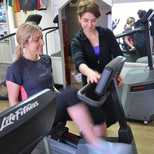 Workout with a personal trainer